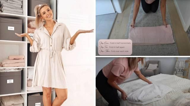 Uz njen trik jastučnice, ručnike i plahte bit će savršeno posloženi