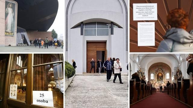 Na nekim misama bilo stotinjak ljudi: 'To je mali broj, crkva je velika. Ako mogu trgovine...'